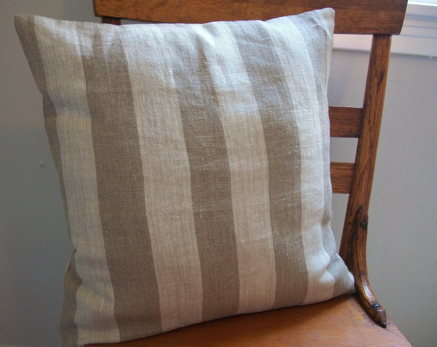 Italian linen pillow cover // cinnamon dolce // 18 x 18 square // cottage chic MADE TO ORDER - FightingforJoy