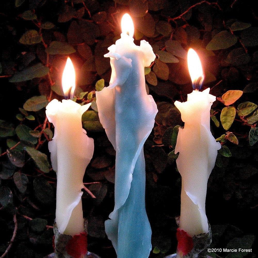 Роза конические Установить, курортные свечи, подарки, Декор - 3 пары, мед янтарный, зеленый, белый или природный - Чистый пчелиный воск, лепестками роз - на Марси Лесная