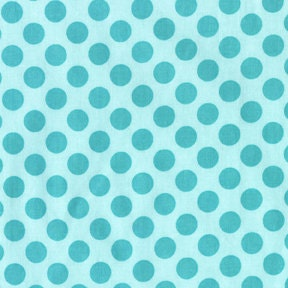 Michael Miller Sea Ta Dot Polka Dots Fabric Aqua Blue