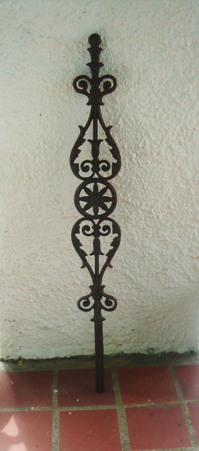 Decorative Cast Iron Picket Baluster Panel Stake by Theironsmith