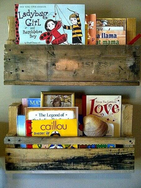 Reciclado estantes de madera de paletas