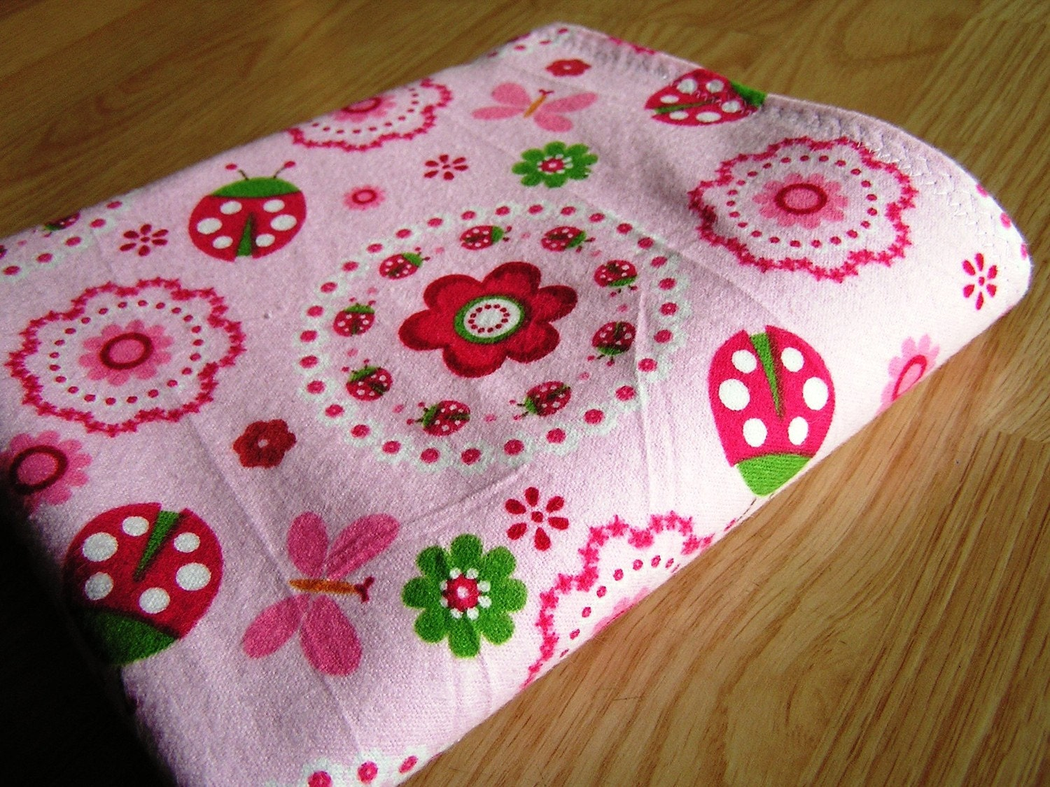 Pink Ladybugs- Waterproof Mat- Diaper Duty- Potty Training