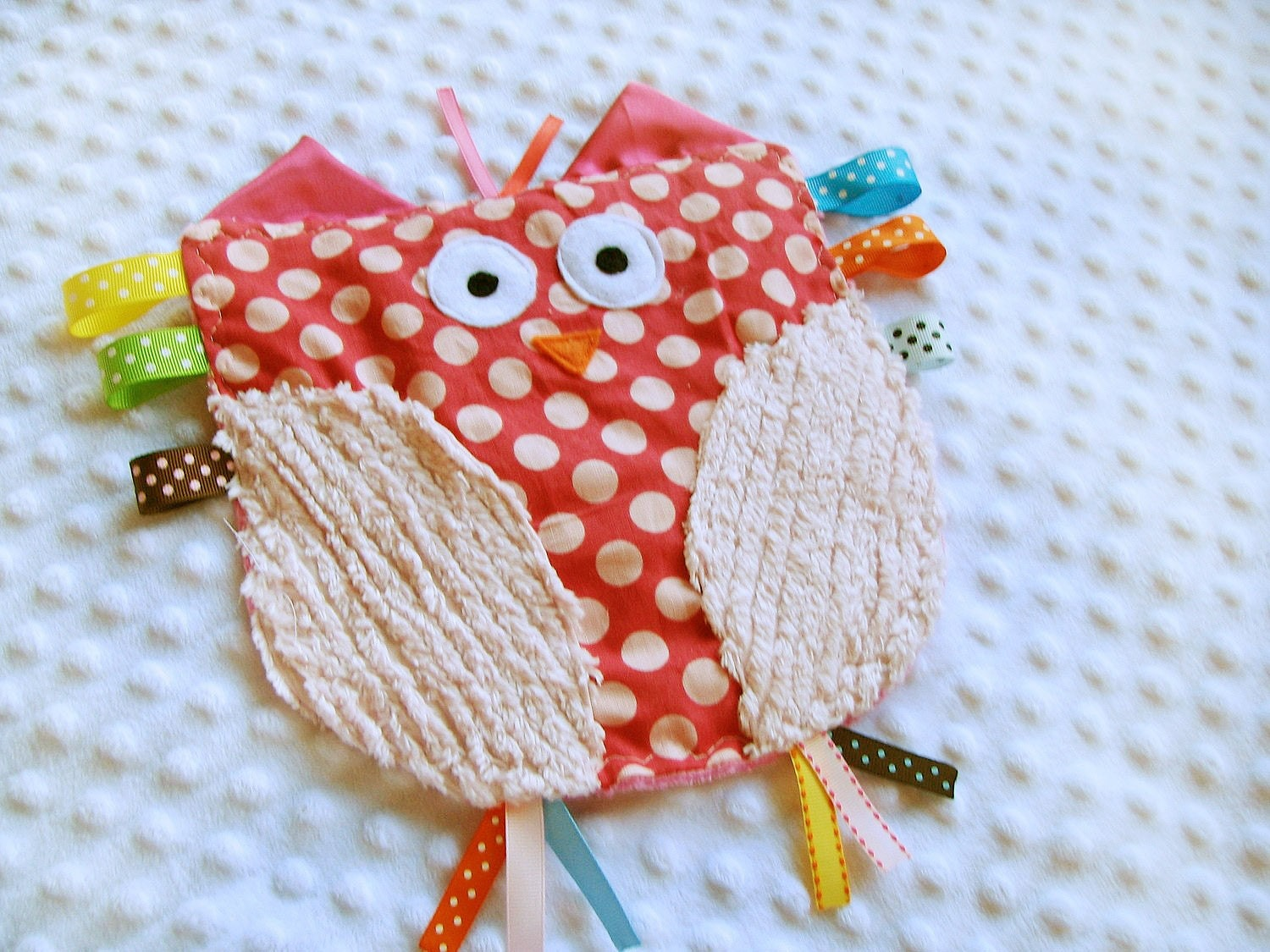 Olivia the Owl Crinkle Crackle with ribbons