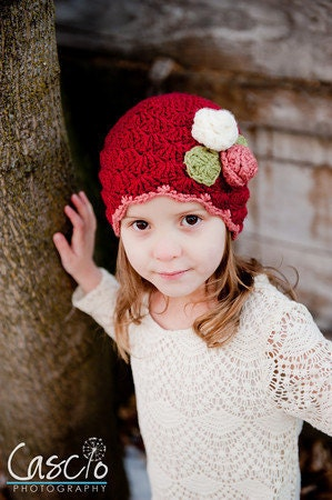 Shelly Hat Crochet Pattern, Baby, Child and Adult sizes included