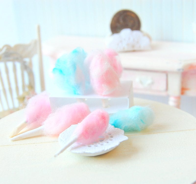 Dollhouse Miniature Cotton Candy - Memoriesnminiature