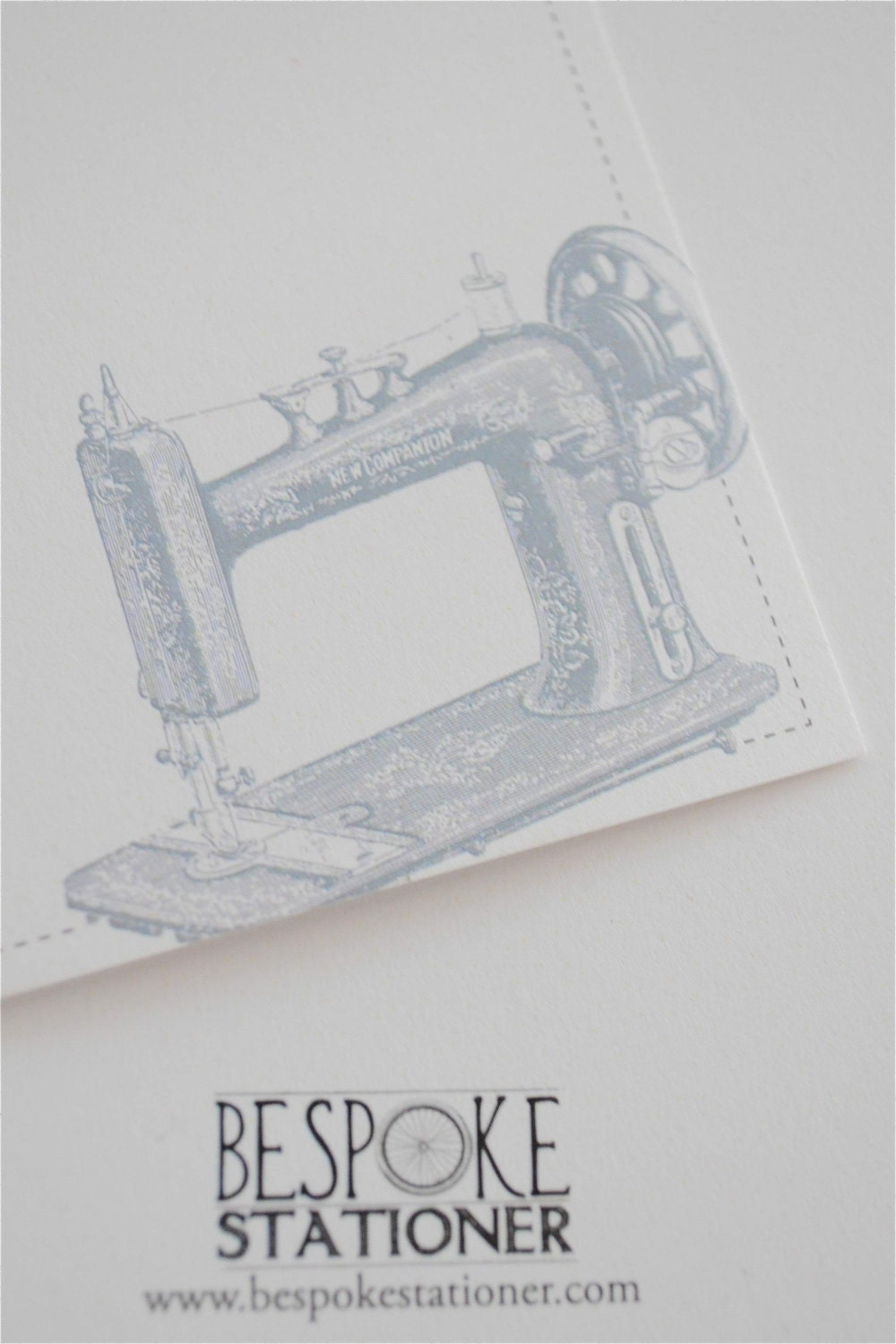 Set of 10 Vintage Sewing Machine Notecards