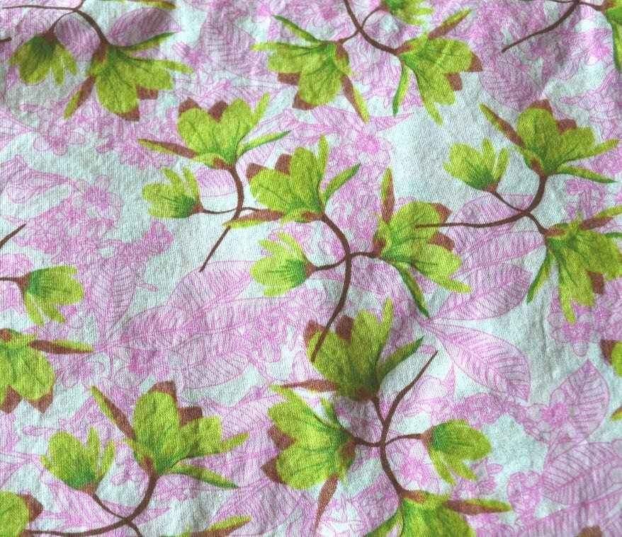 Pink Fabric, Green Fabric, Green Flowers, Pink Flowers, Moda Fabric, Moda, Quilting Fabric - BusyLilHomemaker