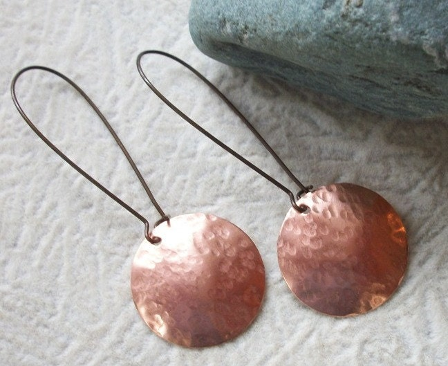 Copper Drop Earrings - allstrungout1