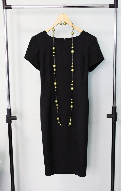 Vintage Little Black Pencil Dress