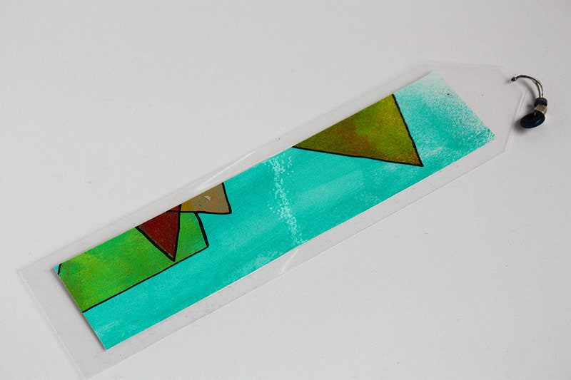 Graphic Modern Tribal Bookmark - Original Art - Katlix