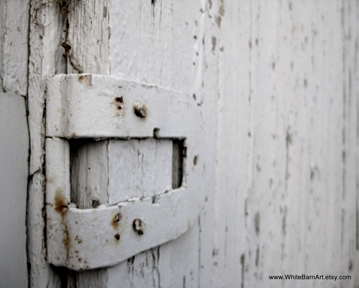 Steadfast  - 8 x 10 Fine Art Photography Print - Industrial Minimalist Barn Door Latch - FREE SHIPPING - White Barn Art - WhiteBarnArt