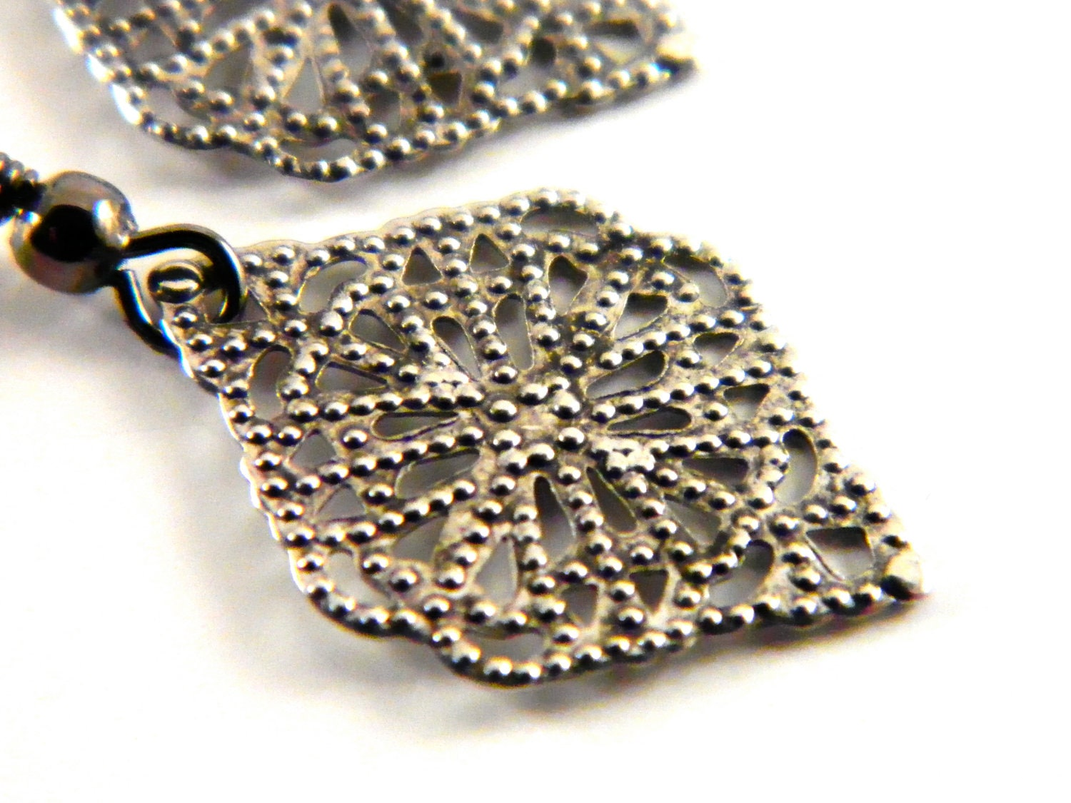 Silver Filigree Judy Earrings - UnnamedRoad
