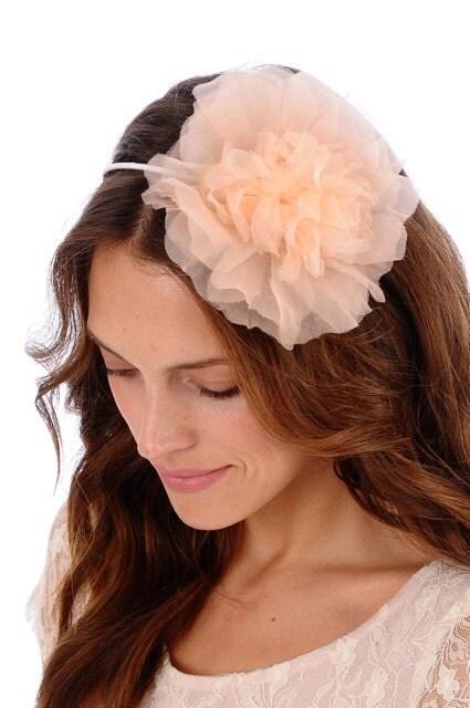 135 - NATALIE Headband -  bridal, flower, veil, wedding, tiara, head piece
