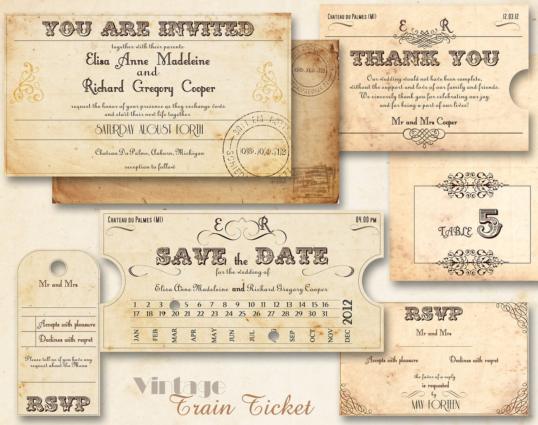 DIY train invitations - Weddingbee