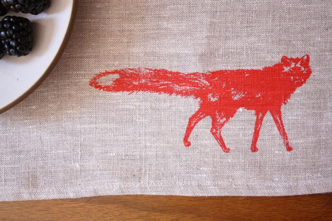 placemats, fox