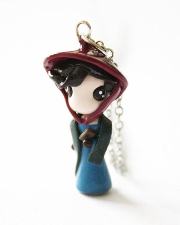 jane austen   miniature sculpture   charm pendant