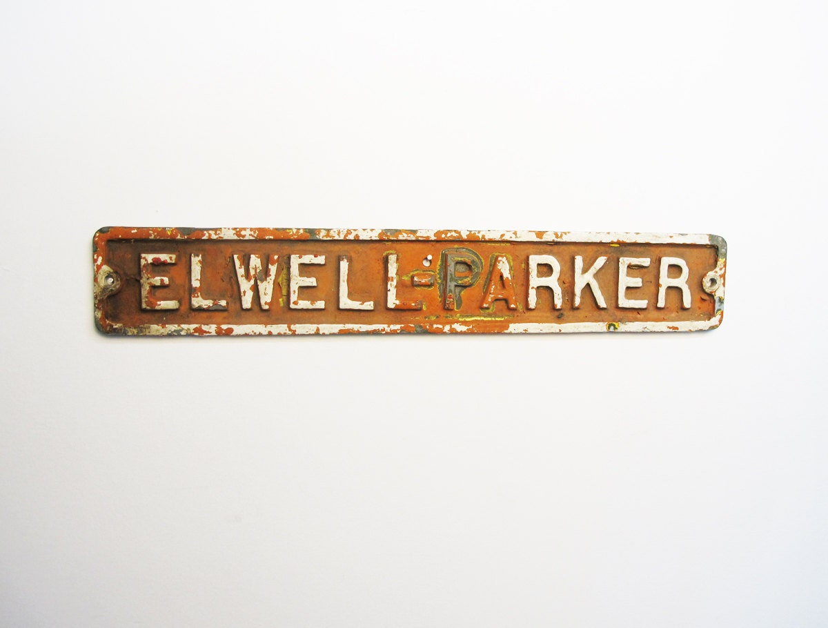 Elwell-Parker Electrical Co. sign - oakcreekvintage
