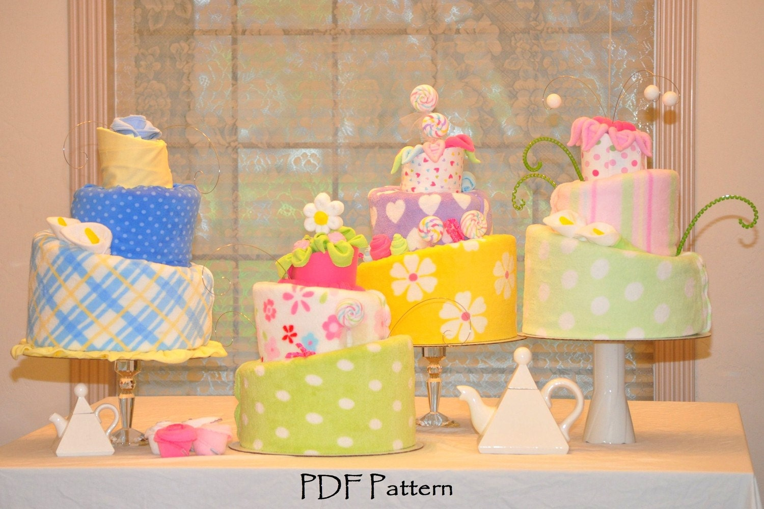 Topsy Turvy Diaper Cake Video and PDF