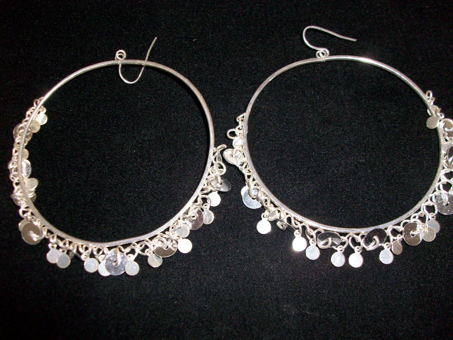 CLEARANCE Dangling Silver Tone Dangling Pierced Earrings