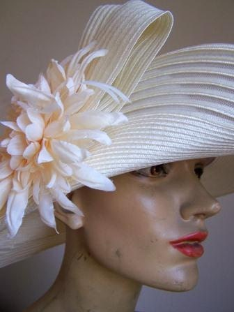 Vintage Spring Wedding Garden Party Hat by August Accessories