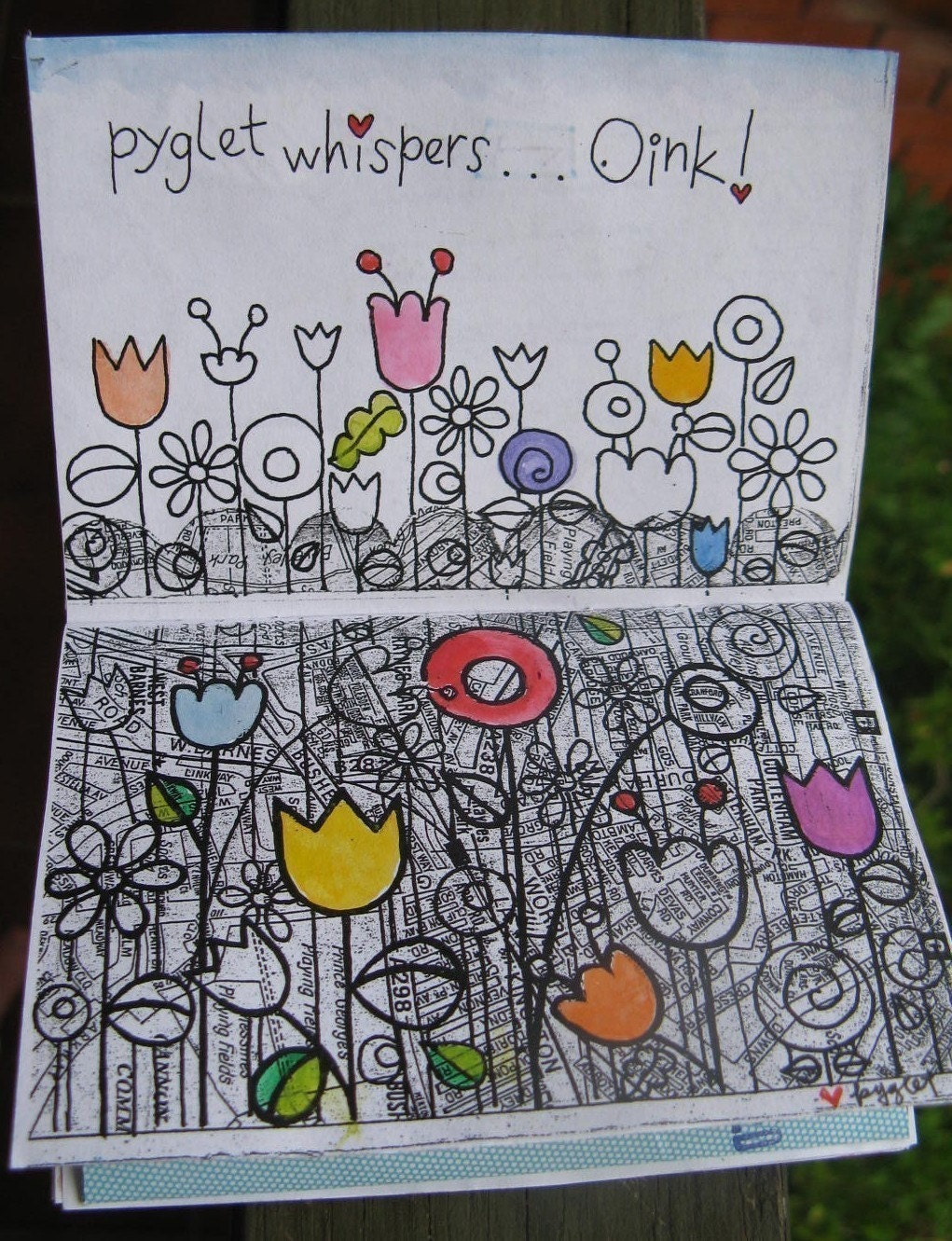 OINK - art zine - vol 1 -  pyglet whispers