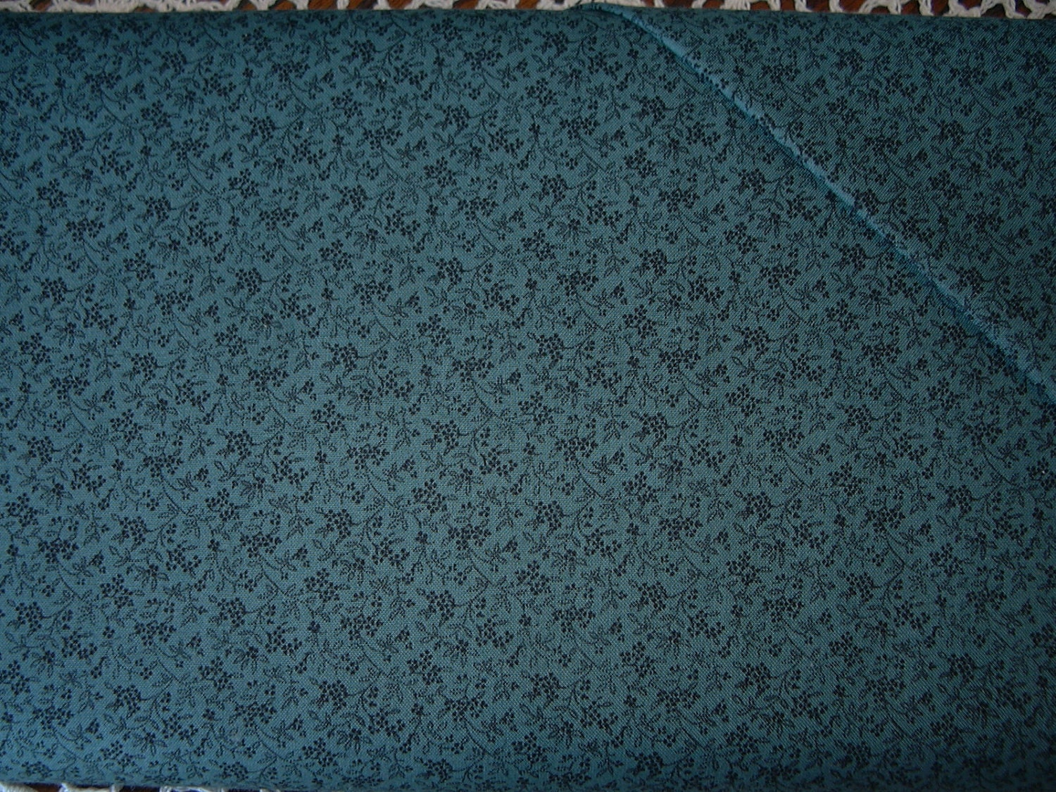 Quilted Fabric Blue Dark Blue Quilt...