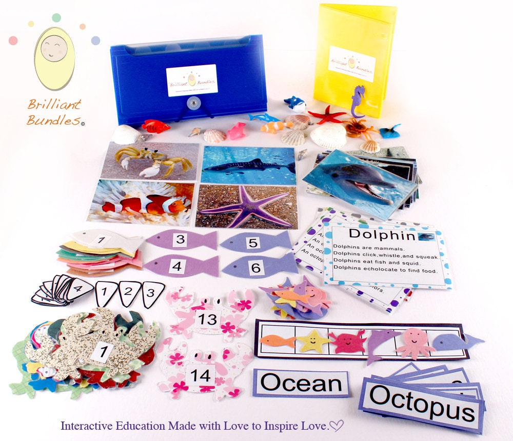 Preschool Ocean Themed  Kit by Brilliant Bundles - BrilliantBundles