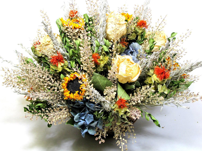 Ideas para la decoraci n con flores y hojas secas - Arreglos florales con flores secas ...