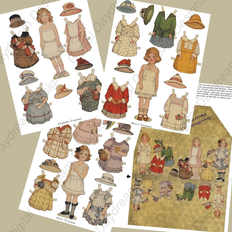 Digital Frances Brundage Printable Paper Doll Kit - MyDigitalDaydream