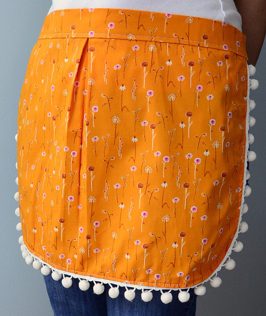 Hostess apron in orange