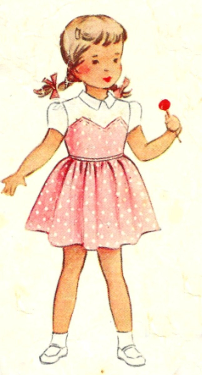 McCall's Girls Dress Pattern 8128 Size 2 1950 - SewReallyCute