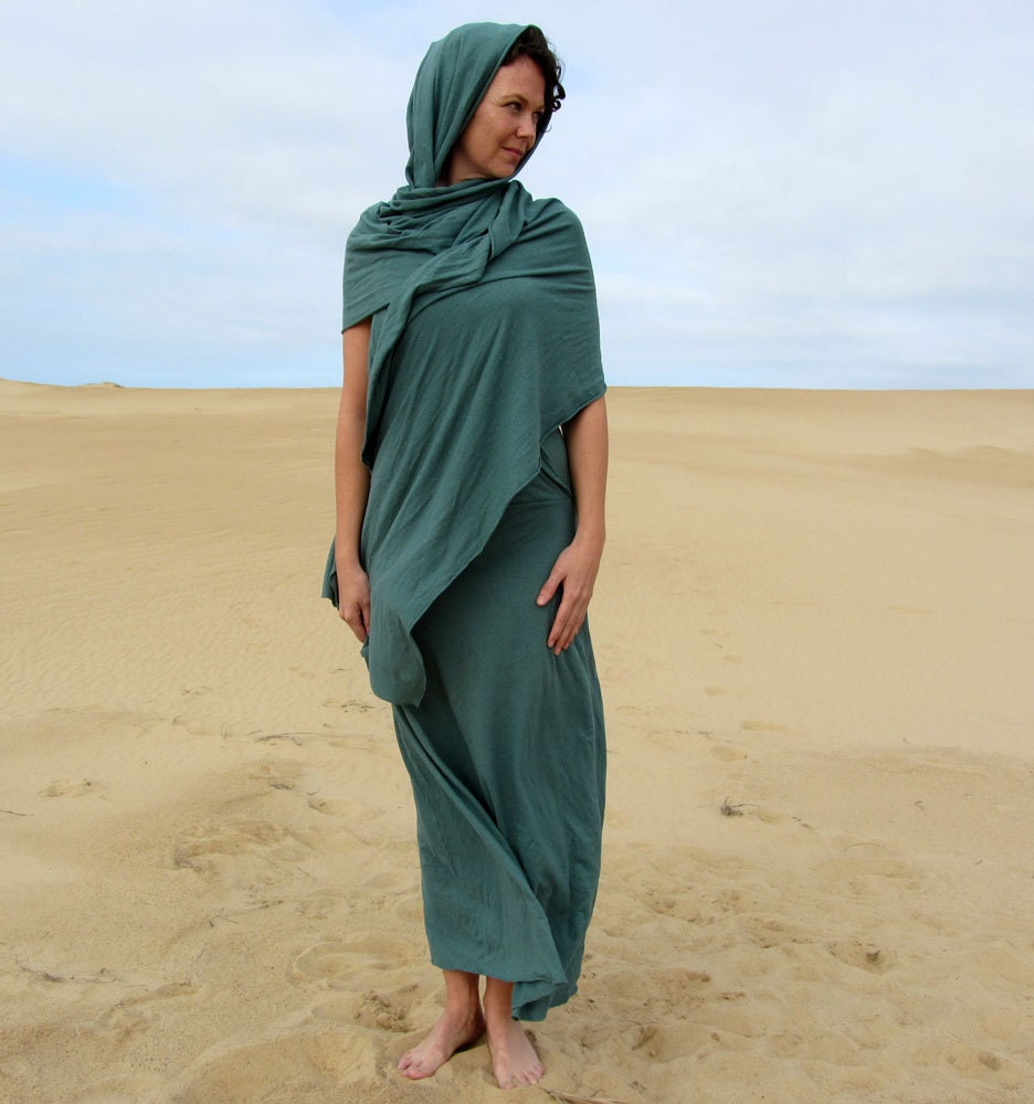 The Love Me 2 Times Long Sari Dress (organic hemp/cotton blend) - gaiaconceptions