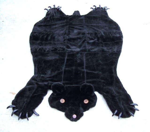 lovecraft co faux bear skin rug. Black Bedroom Furniture Sets. Home Design Ideas