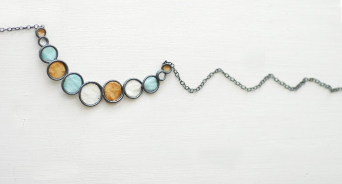 Ocean Surf and Sand Bubble Necklace in Sterling Silver, Minimalist Sterling Silver Contemporary Jewelry, Unique Paper Artisan Jewelry.... - TaylorsEclectic