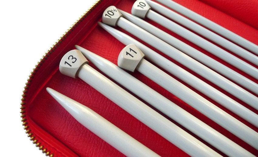 Knitting Needle Sets In Case : Knitting needles set