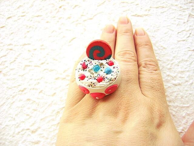 Kawaii Food  Ring Ice Cream Panda Candy