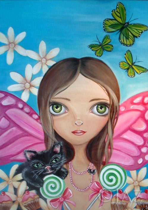 ART PRINT - Xenia Fairy - by Jaz - 8x10