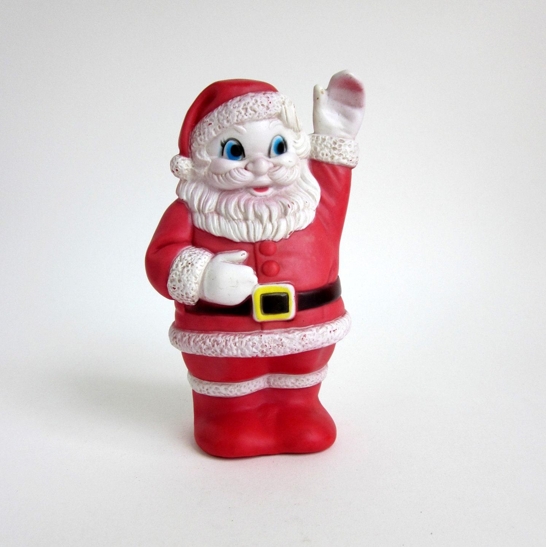 Vintage Sanitoy Rubber Santa Squeak Toy - OopseeDaisies
