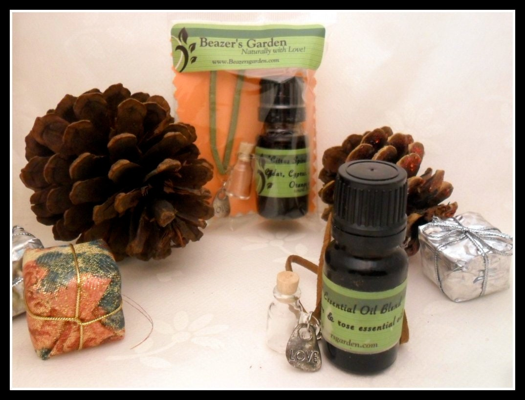 SALE- Boho Chic Charm Bottle Necklace & Essential Oil Perfume Set- TAKE 15% OFF- Gifts Under 25