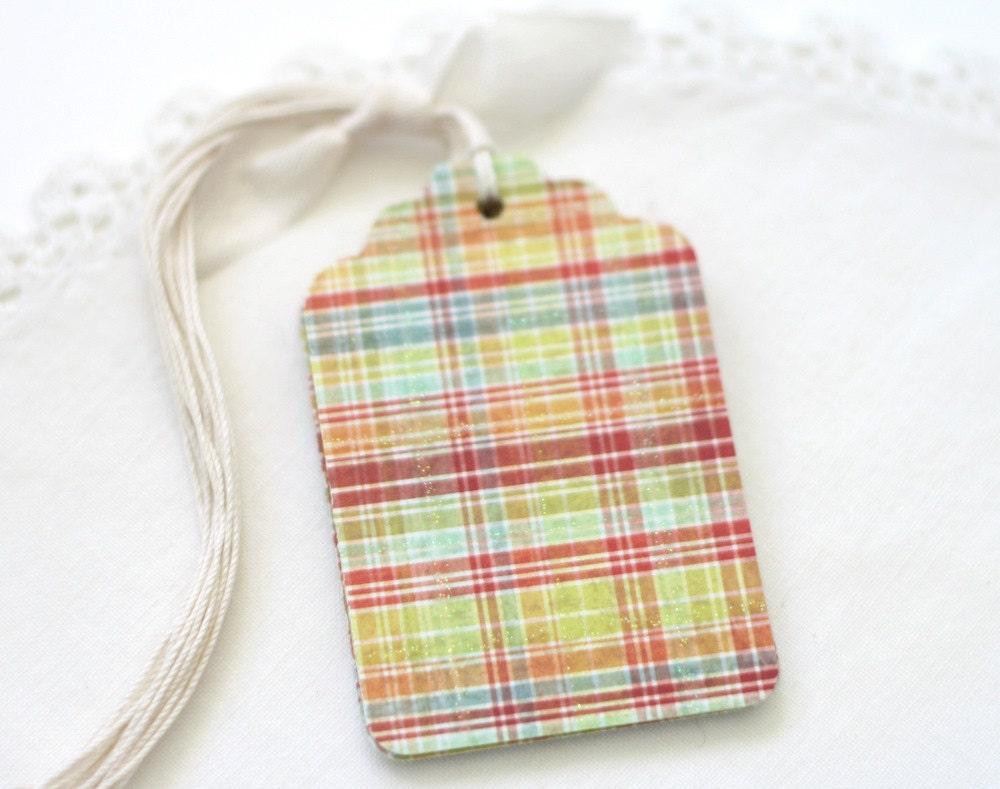 Gift Tags Plaid Multi Color All Occasion