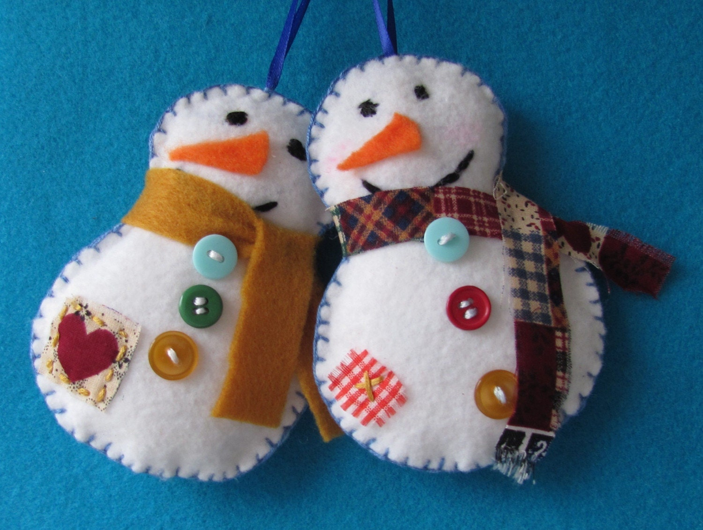 Снеговики своими руками из фетра