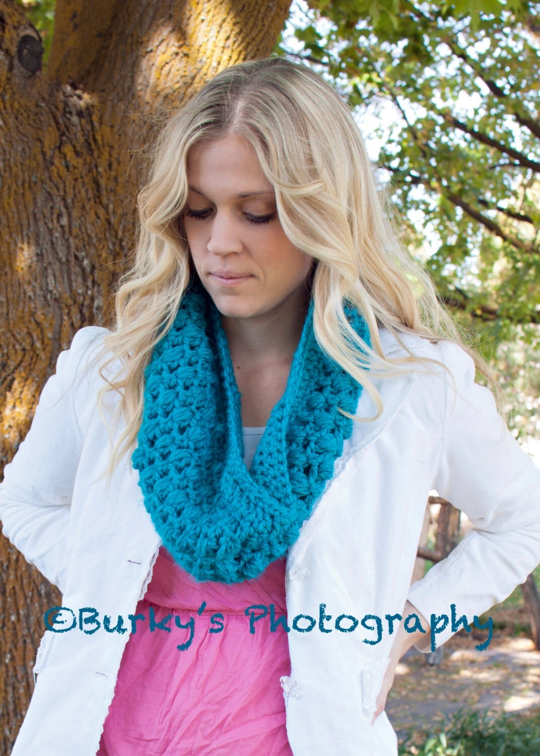 CUTE Crochet Infinity Scarf Pattern for Women by DarlingDerriere Crochet Scarves For Kids Patterns