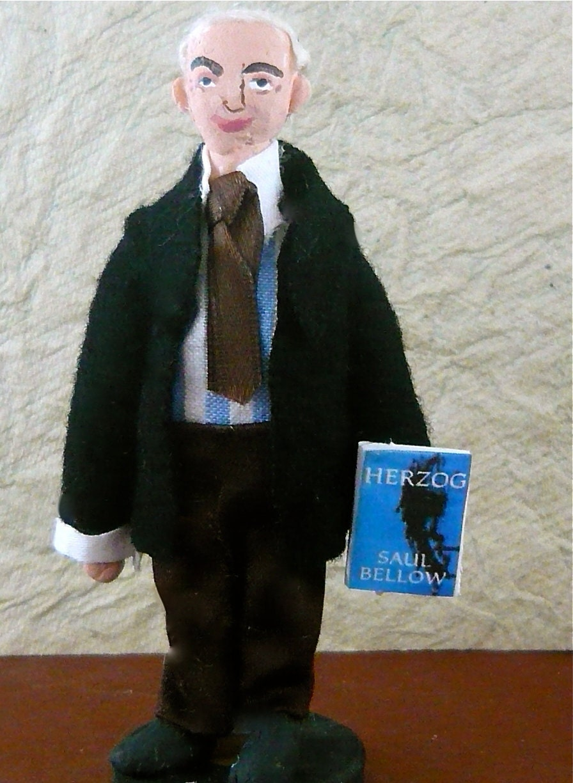 Art Doll Saul Bellow Miniature Author