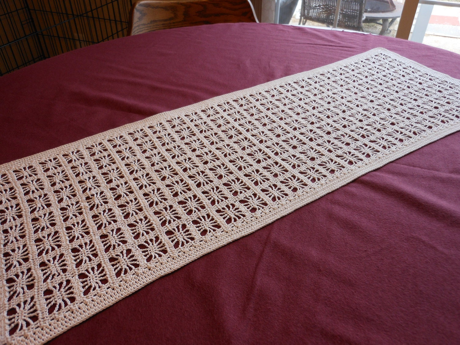 Crochet Patterns Table Runner : CROCHET KNIT PATTERN RUNNER TABLE - CROCHET PATTERN