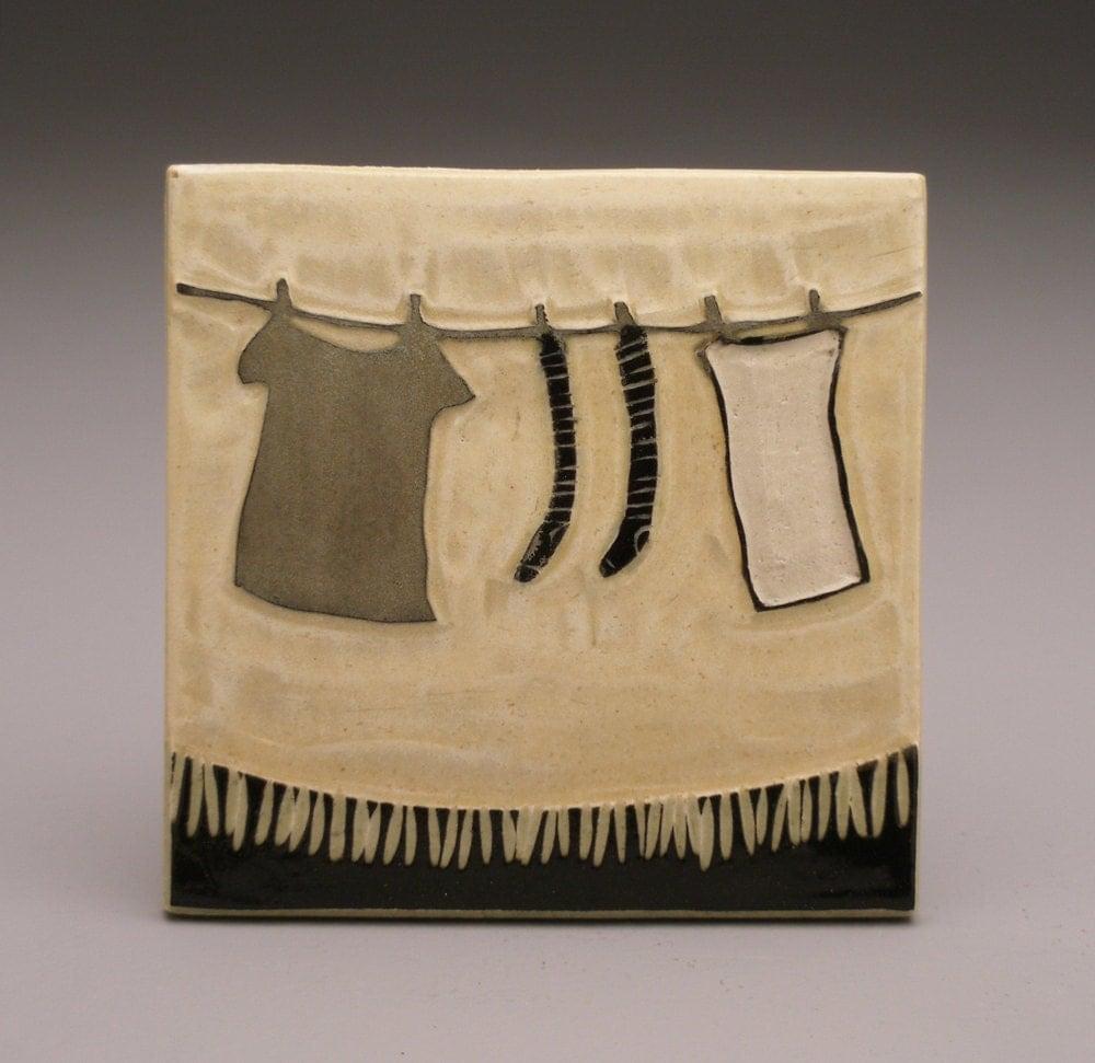 Clothesline- 4x4 tile- Ruchika Madan