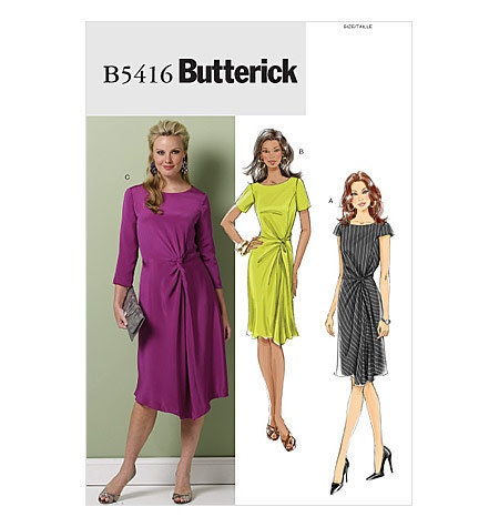 Butterick Dress Pattern B5416 - Misses' Dress in 3 Variations - SZ 16/18/20/22