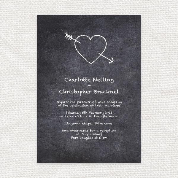 chalkboard wedding invitation printable file