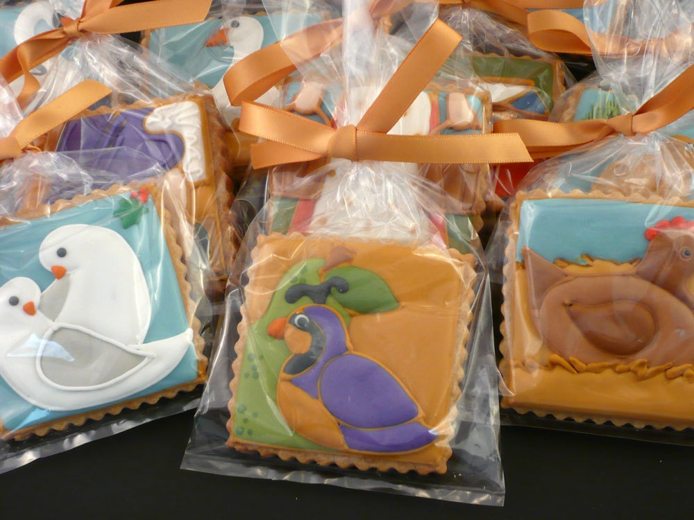 FAVORS Decorated Cookies for Christmas - 12 Days of Christmas