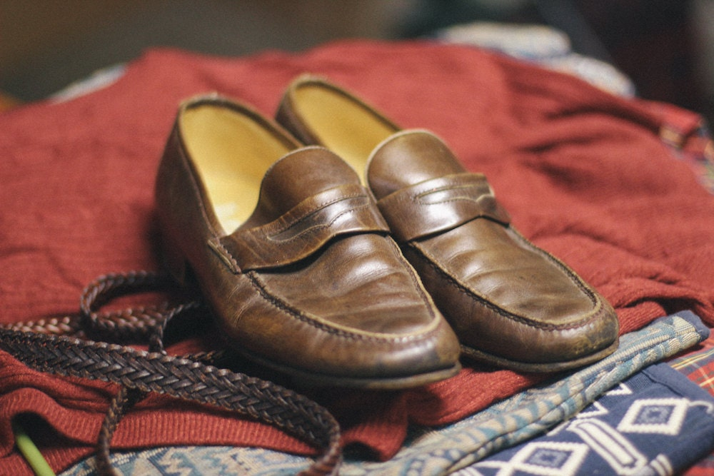 1970s Brown Vintage Gucci Penny Loafers (Size 9.5 US, 42.5 EUR) - HicksterMarket