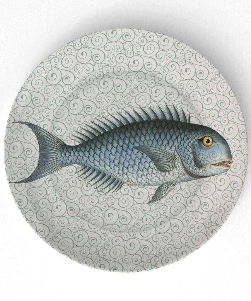 Sea Life Fish I - 1800s - 10 inch Melamine Plate
